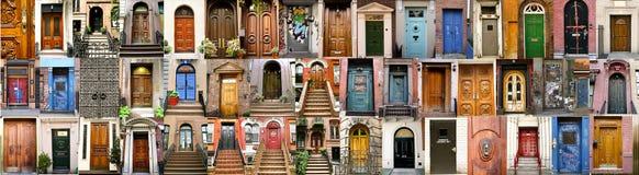 Inzameling van een aantal deur Royalty-vrije Stock Foto's