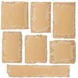 Inzameling van een kartonstukken royalty-vrije stock foto