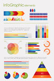 Inzameling van elementen Infographic stock illustratie