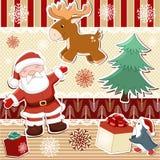 Inzameling van elementen voor het ontwerp van Kerstmis Stock Afbeeldingen