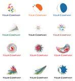 Inzameling van embleem voor uw zaken Stock Foto's