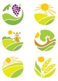 Inzameling van emblemen - Landbouw Stock Afbeelding