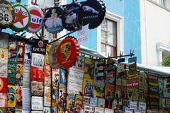 Inzameling van emblemenpunten in Portobello stock afbeelding