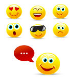 De reeks van Emoticon vector illustratie