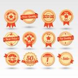 Inzameling van Etiketten Royalty-vrije Stock Foto