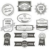Inzameling van etiketten met retro uitstekende stijl Royalty-vrije Stock Fotografie