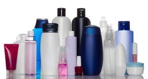 Inzameling van flessen van gezondheid en schoonheidsproduct Stock Afbeelding