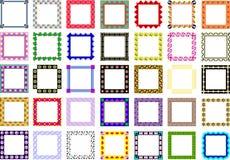 Inzameling van frames stock foto's