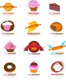 Inzameling van gebakjeemblemen Stock Afbeelding