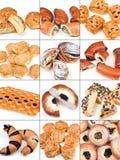 Inzameling van gebakjes Stock Foto