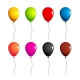 Inzameling van gekleurde ballons Stock Foto