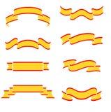 Inzameling van gele banners Stock Afbeelding