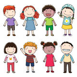 Inzameling van gelukkige kinderen Royalty-vrije Stock Afbeelding