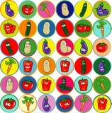 Inzameling van gemengde groenten Royalty-vrije Stock Afbeeldingen
