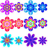 Inzameling van geometrische kleuren. Royalty-vrije Stock Foto