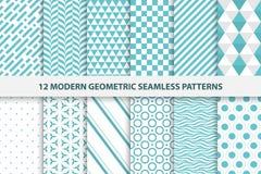 Inzameling van geometrische naadloze patronen Royalty-vrije Stock Afbeeldingen