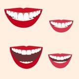 Inzameling van glimlachen Stock Foto's