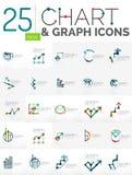 Inzameling van grafiekemblemen Stock Afbeelding