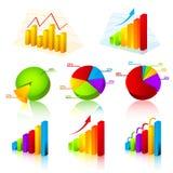 Inzameling van grafieken Stock Afbeelding