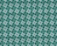 Inzameling van groene en turkooise patronentegels stock fotografie