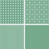 Inzameling van groene patronen Stock Afbeelding