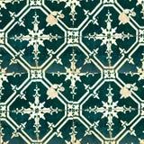 Inzameling van groene patronentegels Royalty-vrije Stock Fotografie