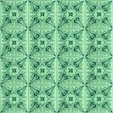 Inzameling van groene patronentegels stock fotografie