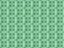 Inzameling van groene patronentegels stock afbeeldingen
