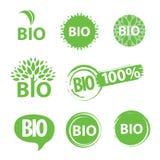 Bio embleem Stock Afbeeldingen