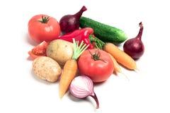 Inzameling van groenten royalty-vrije stock afbeeldingen
