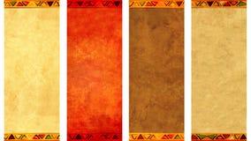 Inzameling van grunge verticale of horizontale banners Royalty-vrije Stock Afbeelding