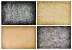 Inzameling van grungeachtergronden Stock Afbeelding