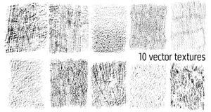 Inzameling van grungetexturen Vector Royalty-vrije Stock Afbeeldingen