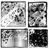 Inzameling van Grungy Achtergronden Stock Foto's