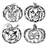 Inzameling van Halloween-pompoen Stock Afbeeldingen