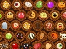 Inzameling van Halloween-suikergoedsnoepje Royalty-vrije Stock Afbeelding