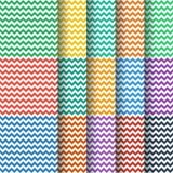 Inzameling van het chevron de naadloze patroon Stock Foto's