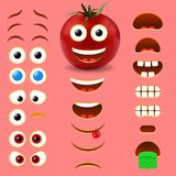 Inzameling van het de schepper vectorontwerp van tomaten de mannelijke emoji stock illustratie