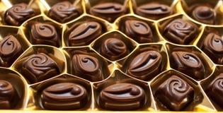 Inzameling van het het Behang zoete voedsel van het chocoladesuikergoed de Zoete Donkere Cho Stock Foto's