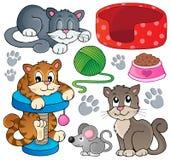 Inzameling 1 van het kattenthema Royalty-vrije Stock Fotografie