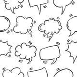 Inzameling van het patroonstijl van de toespraakbel stock illustratie