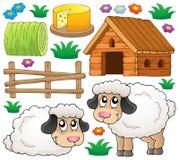 Inzameling 1 van het schapenthema Stock Afbeeldingen