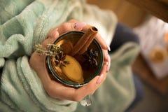 Inzameling van hete dranken in een glas met dubbele geïsoleerde muren Cacao, koffie, thee royalty-vrije stock afbeelding