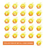 Inzameling van Hexagon Symbool Moderne Aanvankelijke embleemontwerpsjabloon royalty-vrije illustratie