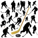 Inzameling van hockeyvector Royalty-vrije Stock Afbeeldingen