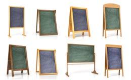 Inzameling van houten raad voor het menu of de opleiding royalty-vrije stock fotografie