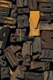 Inzameling van houten typeblokken Stock Afbeelding
