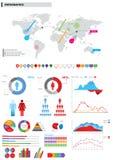Inzameling van infographic elementen. Stock Foto
