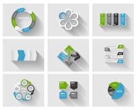 Inzameling van Infographic-Malplaatjes voor Zaken Royalty-vrije Stock Afbeeldingen
