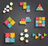 Inzameling van Infographic-Malplaatjes voor Zaken Stock Foto